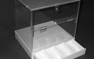 Ballot Box with Locking Cash Drawer
