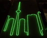Toronto skyline with EL wire