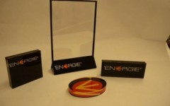 Acrylic sign holder and logo blocks